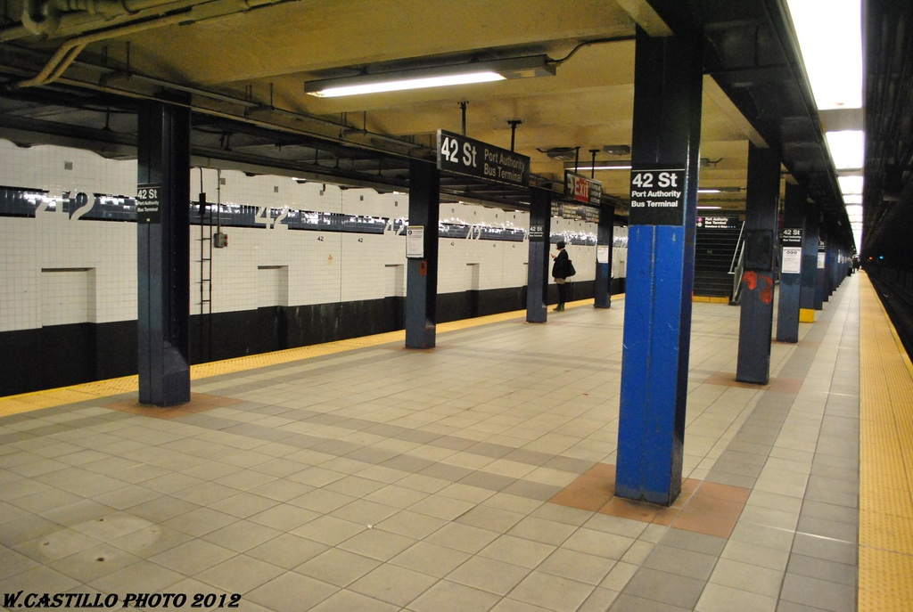 (266k, 1024x687)<br><b>Country:</b> United States<br><b>City:</b> New York<br><b>System:</b> New York City Transit<br><b>Line:</b> IND 8th Avenue Line<br><b>Location:</b> 42nd Street/Port Authority Bus Terminal <br><b>Photo by:</b> Wilfredo Castillo<br><b>Date:</b> 4/25/2012<br><b>Viewed (this week/total):</b> 1 / 1080