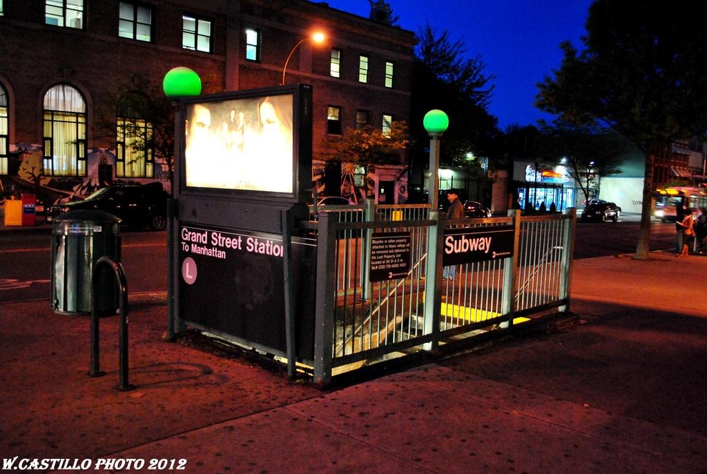 (282k, 1024x687)<br><b>Country:</b> United States<br><b>City:</b> New York<br><b>System:</b> New York City Transit<br><b>Line:</b> BMT Canarsie Line<br><b>Location:</b> Grand Street <br><b>Photo by:</b> Wilfredo Castillo<br><b>Date:</b> 4/2012<br><b>Viewed (this week/total):</b> 4 / 1352