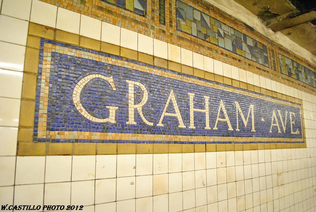 (344k, 1024x687)<br><b>Country:</b> United States<br><b>City:</b> New York<br><b>System:</b> New York City Transit<br><b>Line:</b> BMT Canarsie Line<br><b>Location:</b> Graham Avenue <br><b>Photo by:</b> Wilfredo Castillo<br><b>Date:</b> 4/27/2012<br><b>Viewed (this week/total):</b> 1 / 693