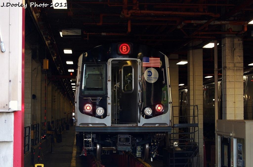 (298k, 1024x674)<br><b>Country:</b> United States<br><b>City:</b> New York<br><b>System:</b> New York City Transit<br><b>Location:</b> Coney Island Yard<br><b>Car:</b> R-160A-2 (Alstom, 2005-2008, 5 car sets)  8653 <br><b>Photo by:</b> John Dooley<br><b>Date:</b> 8/26/2011<br><b>Viewed (this week/total):</b> 0 / 773
