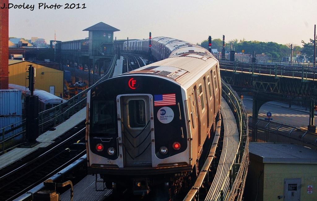 (335k, 1024x651)<br><b>Country:</b> United States<br><b>City:</b> New York<br><b>System:</b> New York City Transit<br><b>Location:</b> Coney Island Yard<br><b>Car:</b> R-160A (Option 1) (Alstom, 2008-2009, 5 car sets)  9243 <br><b>Photo by:</b> John Dooley<br><b>Date:</b> 8/26/2011<br><b>Viewed (this week/total):</b> 0 / 864