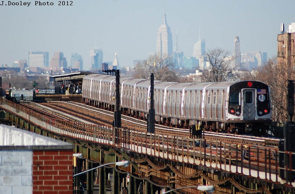 (349k, 1024x672)<br><b>Country:</b> United States<br><b>City:</b> New York<br><b>System:</b> New York City Transit<br><b>Line:</b> BMT Culver Line<br><b>Location:</b> Kings Highway <br><b>Route:</b> F<br><b>Car:</b> R-160A (Option 2) (Alstom, 2009, 5-car sets)  9777 <br><b>Photo by:</b> John Dooley<br><b>Date:</b> 3/19/2012<br><b>Viewed (this week/total):</b> 1 / 742
