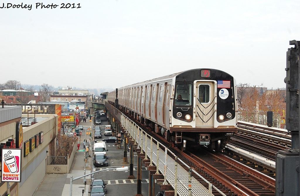 (333k, 1024x670)<br><b>Country:</b> United States<br><b>City:</b> New York<br><b>System:</b> New York City Transit<br><b>Line:</b> BMT Culver Line<br><b>Location:</b> Avenue I <br><b>Route:</b> F<br><b>Car:</b> R-160B (Option 2) (Kawasaki, 2009)  9908 <br><b>Photo by:</b> John Dooley<br><b>Date:</b> 12/5/2011<br><b>Viewed (this week/total):</b> 0 / 955