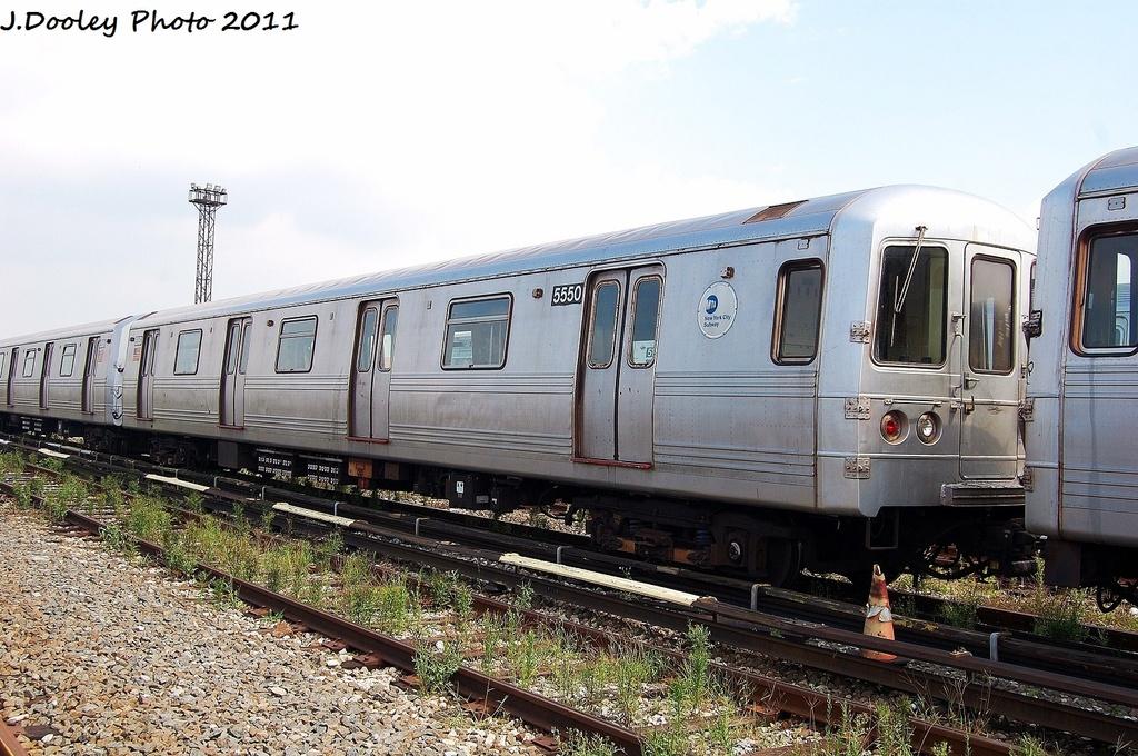 (355k, 1024x680)<br><b>Country:</b> United States<br><b>City:</b> New York<br><b>System:</b> New York City Transit<br><b>Location:</b> Coney Island Yard<br><b>Car:</b> R-46 (Pullman-Standard, 1974-75) 5550 <br><b>Photo by:</b> John Dooley<br><b>Date:</b> 8/26/2011<br><b>Viewed (this week/total):</b> 0 / 547