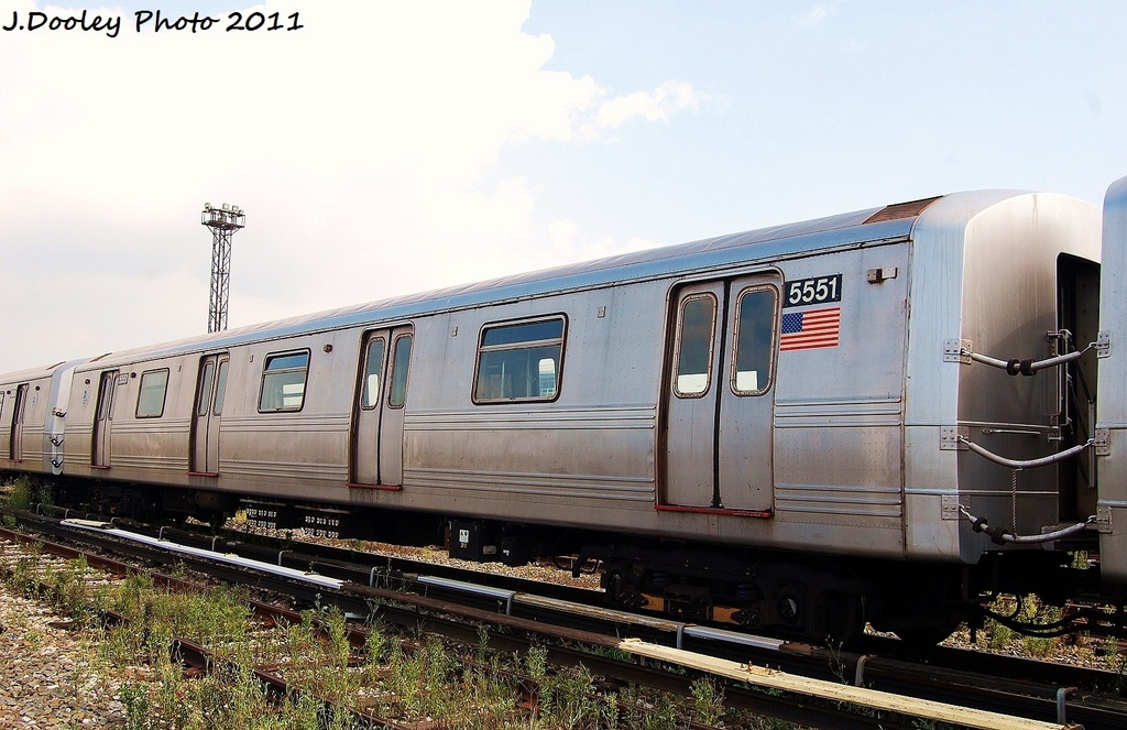 (310k, 1024x663)<br><b>Country:</b> United States<br><b>City:</b> New York<br><b>System:</b> New York City Transit<br><b>Location:</b> Coney Island Yard<br><b>Car:</b> R-46 (Pullman-Standard, 1974-75) 5551 <br><b>Photo by:</b> John Dooley<br><b>Date:</b> 8/26/2011<br><b>Viewed (this week/total):</b> 0 / 424