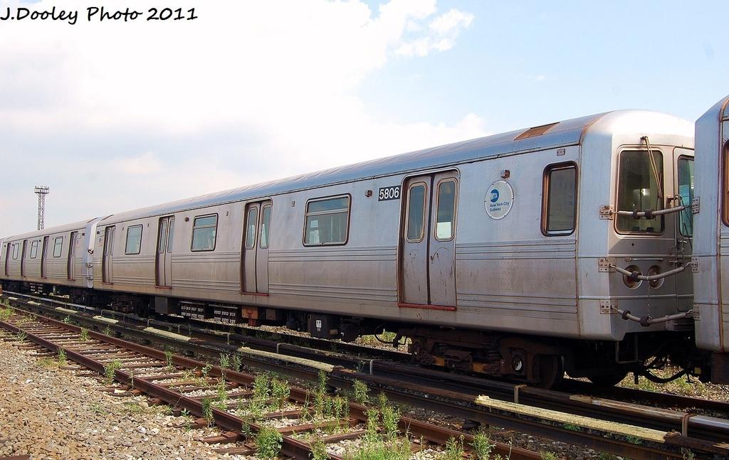 (310k, 1024x647)<br><b>Country:</b> United States<br><b>City:</b> New York<br><b>System:</b> New York City Transit<br><b>Location:</b> Coney Island Yard<br><b>Car:</b> R-46 (Pullman-Standard, 1974-75) 5806 <br><b>Photo by:</b> John Dooley<br><b>Date:</b> 8/26/2011<br><b>Viewed (this week/total):</b> 3 / 544