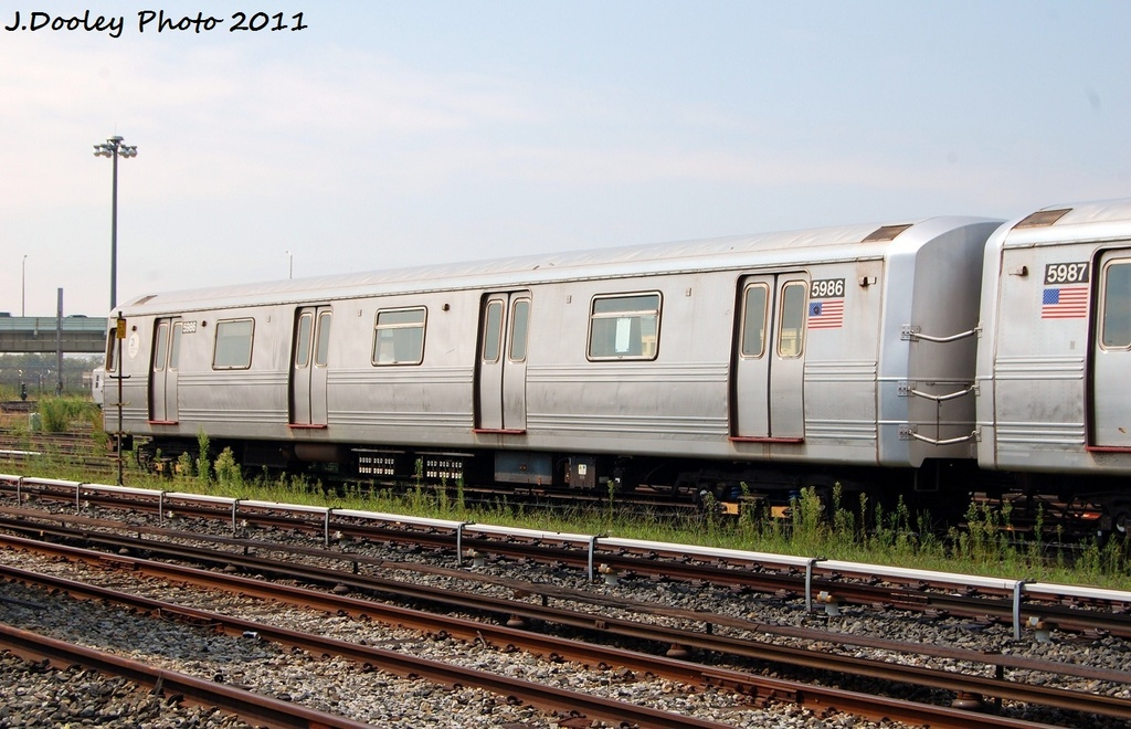 (313k, 1024x660)<br><b>Country:</b> United States<br><b>City:</b> New York<br><b>System:</b> New York City Transit<br><b>Location:</b> Coney Island Yard<br><b>Car:</b> R-46 (Pullman-Standard, 1974-75) 5986 <br><b>Photo by:</b> John Dooley<br><b>Date:</b> 8/26/2011<br><b>Viewed (this week/total):</b> 0 / 548