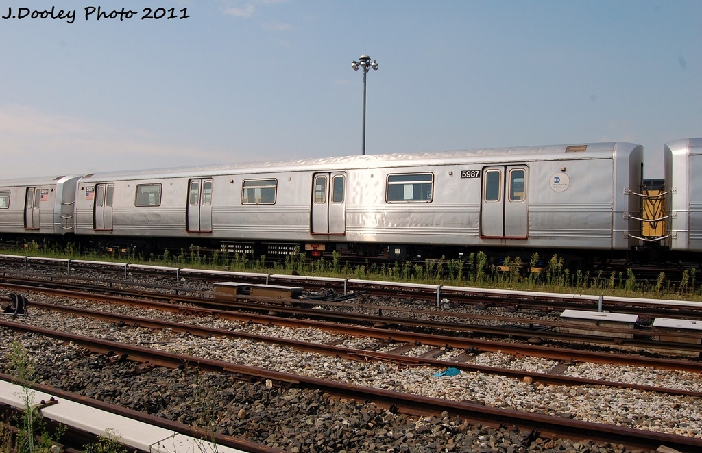(332k, 1024x662)<br><b>Country:</b> United States<br><b>City:</b> New York<br><b>System:</b> New York City Transit<br><b>Location:</b> Coney Island Yard<br><b>Car:</b> R-46 (Pullman-Standard, 1974-75) 5987 <br><b>Photo by:</b> John Dooley<br><b>Date:</b> 8/26/2011<br><b>Viewed (this week/total):</b> 0 / 502