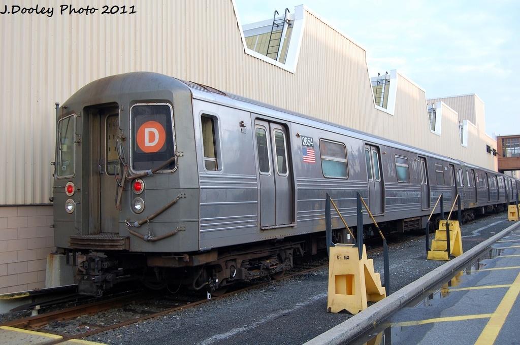 (300k, 1024x680)<br><b>Country:</b> United States<br><b>City:</b> New York<br><b>System:</b> New York City Transit<br><b>Location:</b> Coney Island Yard<br><b>Car:</b> R-68 (Westinghouse-Amrail, 1986-1988)  2854 <br><b>Photo by:</b> John Dooley<br><b>Date:</b> 8/26/2011<br><b>Viewed (this week/total):</b> 0 / 757