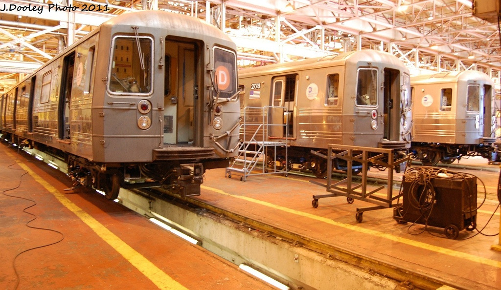 (322k, 1024x594)<br><b>Country:</b> United States<br><b>City:</b> New York<br><b>System:</b> New York City Transit<br><b>Location:</b> Coney Island Shop/Overhaul & Repair Shop<br><b>Car:</b> R-68 (Westinghouse-Amrail, 1986-1988)  2758/2778 <br><b>Photo by:</b> John Dooley<br><b>Date:</b> 10/9/2011<br><b>Viewed (this week/total):</b> 3 / 798