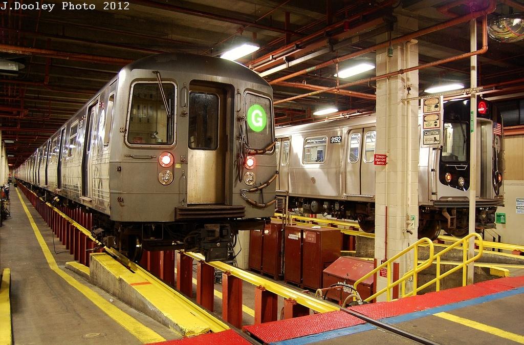 (390k, 1024x674)<br><b>Country:</b> United States<br><b>City:</b> New York<br><b>System:</b> New York City Transit<br><b>Location:</b> Coney Island Shop/Maint. & Inspection Shop<br><b>Car:</b> R-68A (Kawasaki, 1988-1989)  5158 <br><b>Photo by:</b> John Dooley<br><b>Date:</b> 2/27/2012<br><b>Viewed (this week/total):</b> 0 / 1233
