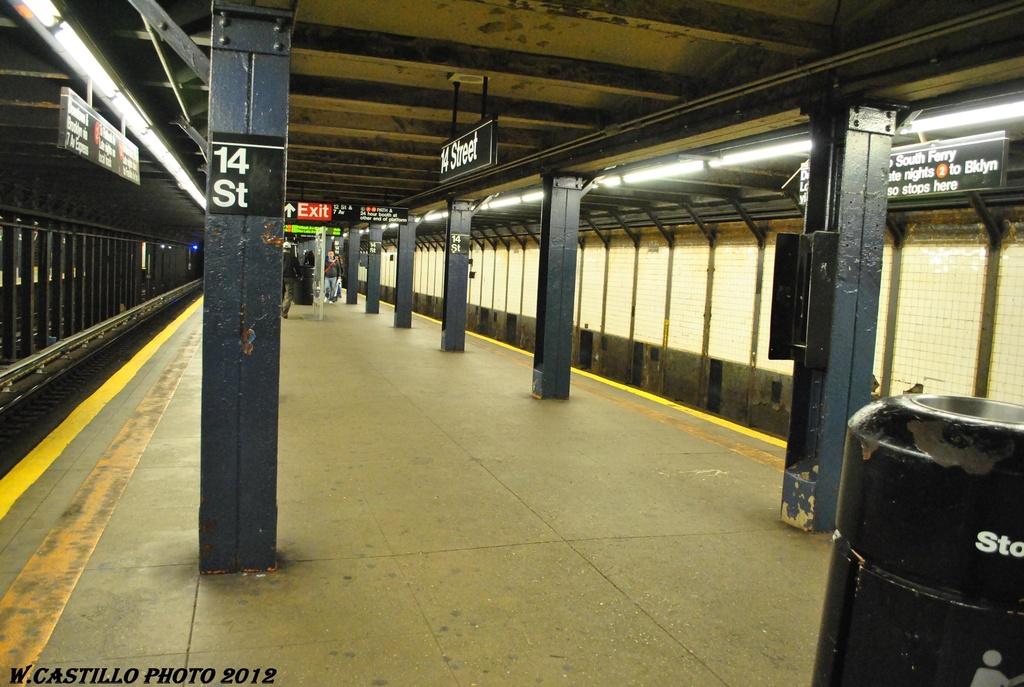 (310k, 1024x687)<br><b>Country:</b> United States<br><b>City:</b> New York<br><b>System:</b> New York City Transit<br><b>Line:</b> IRT West Side Line<br><b>Location:</b> 14th Street <br><b>Photo by:</b> Wilfredo Castillo<br><b>Date:</b> 4/28/2012<br><b>Viewed (this week/total):</b> 0 / 1239