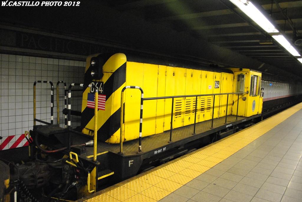 (281k, 1024x687)<br><b>Country:</b> United States<br><b>City:</b> New York<br><b>System:</b> New York City Transit<br><b>Line:</b> BMT 4th Avenue<br><b>Location:</b> Pacific Street <br><b>Route:</b> Work Service<br><b>Car:</b> R-47 Locomotive  64 <br><b>Photo by:</b> Wilfredo Castillo<br><b>Date:</b> 4/28/2012<br><b>Viewed (this week/total):</b> 1 / 832
