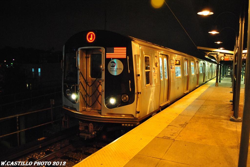 (265k, 1024x687)<br><b>Country:</b> United States<br><b>City:</b> New York<br><b>System:</b> New York City Transit<br><b>Line:</b> BMT Nassau Street/Jamaica Line<br><b>Location:</b> Broadway/East New York (Broadway Junction) <br><b>Route:</b> J<br><b>Car:</b> R-160A-1 (Alstom, 2005-2008, 4 car sets)  8360 <br><b>Photo by:</b> Wilfredo Castillo<br><b>Date:</b> 5/2/2012<br><b>Viewed (this week/total):</b> 5 / 1016