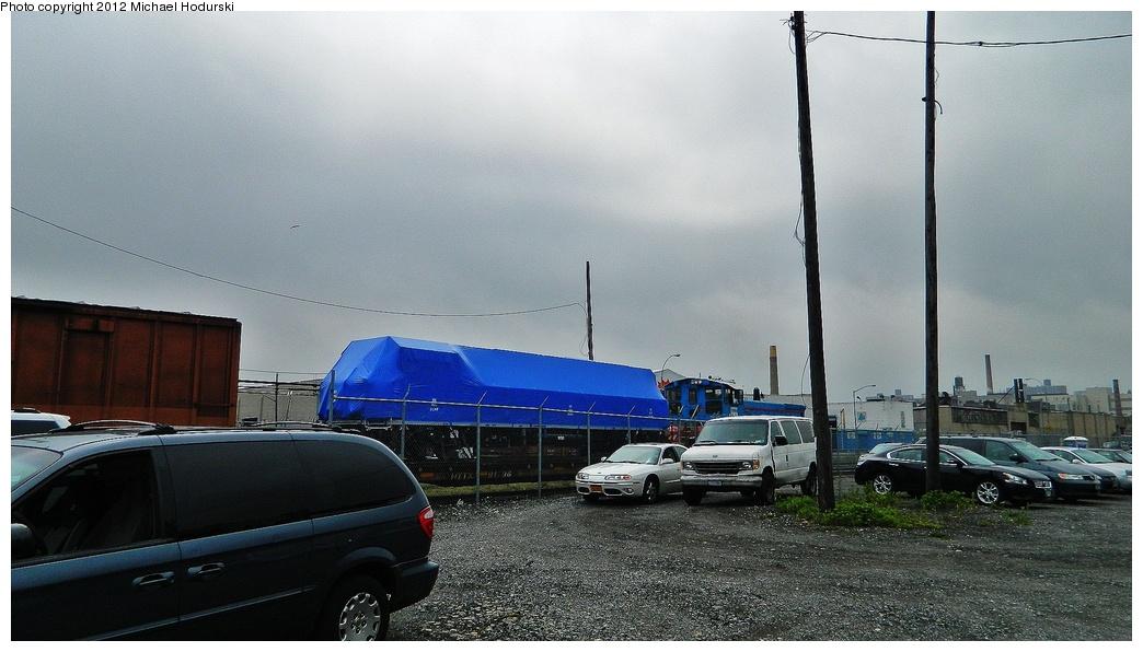 (264k, 1044x596)<br><b>Country:</b> United States<br><b>City:</b> New York<br><b>System:</b> New York City Transit<br><b>Line:</b> South Brooklyn Railway<br><b>Location:</b> SBK Yard (2nd Ave at 38th St.) (SBK)<br><b>Car:</b> R-156 Diesel-Electric Locomotive (MPI, 2012-2013) 912 <br><b>Photo by:</b> Michael Hodurski<br><b>Date:</b> 4/30/2012<br><b>Notes:</b> Delivery of first R-156 locomotive, 0L912.<br><b>Viewed (this week/total):</b> 2 / 833