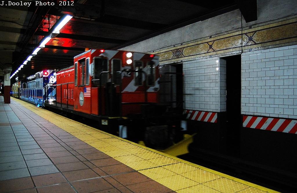 (351k, 1024x667)<br><b>Country:</b> United States<br><b>City:</b> New York<br><b>System:</b> New York City Transit<br><b>Location:</b> DeKalb Avenue<br><b>Car:</b> R-47 (SBK) Locomotive  N1 <br><b>Photo by:</b> John Dooley<br><b>Date:</b> 5/2/2012<br><b>Notes:</b> New R-156 loco move - Linden Yd to Coney Island Yd<br><b>Viewed (this week/total):</b> 0 / 1046