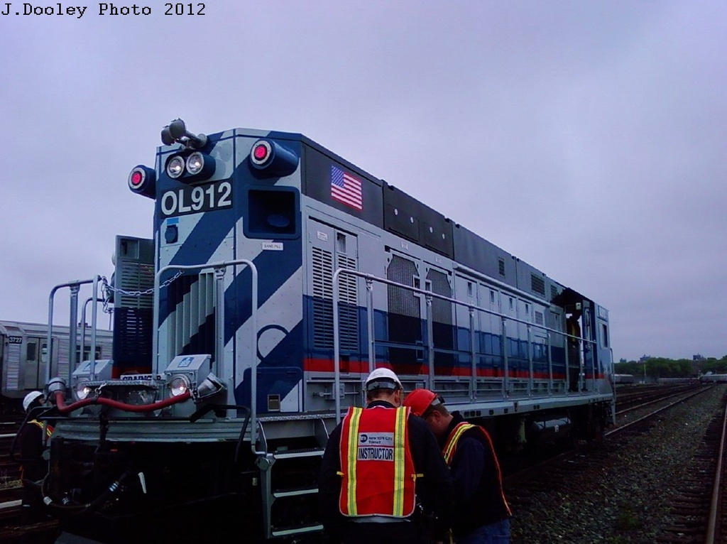 (233k, 1024x766)<br><b>Country:</b> United States<br><b>City:</b> New York<br><b>System:</b> New York City Transit<br><b>Location:</b> Coney Island Yard<br><b>Car:</b> R-156 Diesel-Electric Locomotive (MPI, 2012-2013) 912 <br><b>Photo by:</b> John Dooley<br><b>Date:</b> 5/3/2012<br><b>Viewed (this week/total):</b> 3 / 1398
