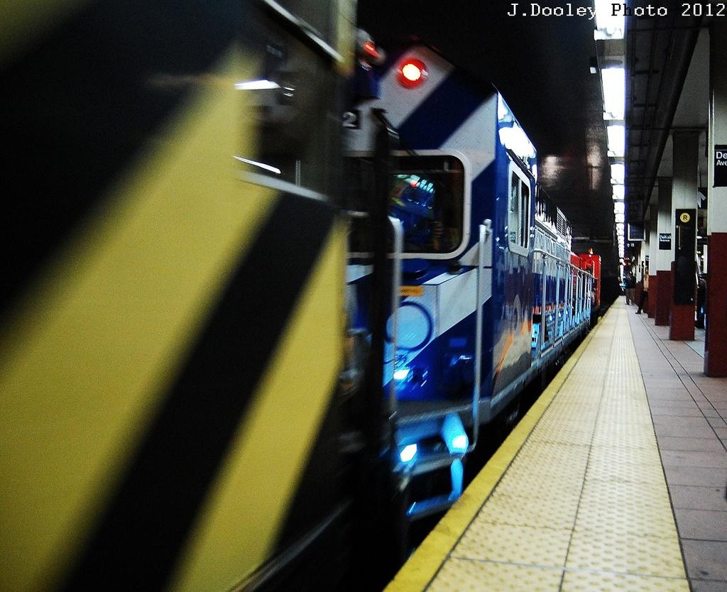 (380k, 1024x834)<br><b>Country:</b> United States<br><b>City:</b> New York<br><b>System:</b> New York City Transit<br><b>Location:</b> DeKalb Avenue<br><b>Car:</b> R-156 Diesel-Electric Locomotive (MPI, 2012-2013) 912 <br><b>Photo by:</b> John Dooley<br><b>Date:</b> 5/2/2012<br><b>Notes:</b> New R-156 loco move - Linden Yd to Coney Island Yd<br><b>Viewed (this week/total):</b> 1 / 1047
