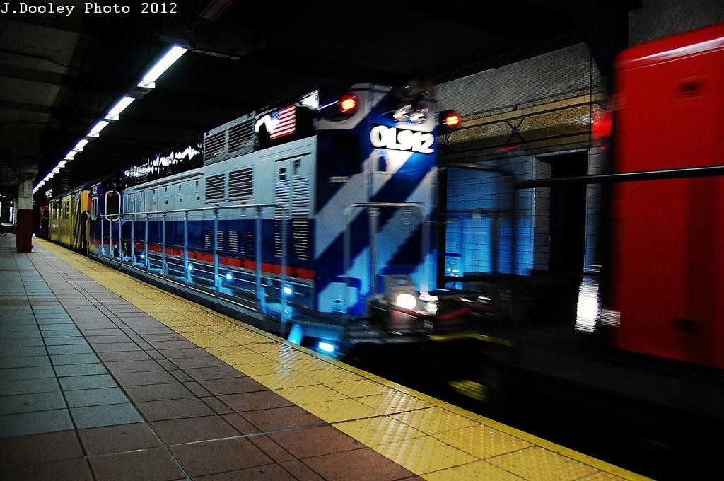 (326k, 1024x680)<br><b>Country:</b> United States<br><b>City:</b> New York<br><b>System:</b> New York City Transit<br><b>Location:</b> DeKalb Avenue<br><b>Car:</b> R-156 Diesel-Electric Locomotive (MPI, 2012-2013) 912 <br><b>Photo by:</b> John Dooley<br><b>Date:</b> 5/2/2012<br><b>Notes:</b> New R-156 loco move - Linden Yd to Coney Island Yd<br><b>Viewed (this week/total):</b> 1 / 1531