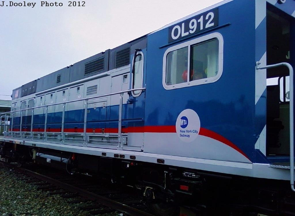(236k, 1024x750)<br><b>Country:</b> United States<br><b>City:</b> New York<br><b>System:</b> New York City Transit<br><b>Location:</b> Coney Island Yard<br><b>Car:</b> R-156 Diesel-Electric Locomotive (MPI, 2012-2013) 912 <br><b>Photo by:</b> John Dooley<br><b>Date:</b> 5/3/2012<br><b>Viewed (this week/total):</b> 2 / 1344