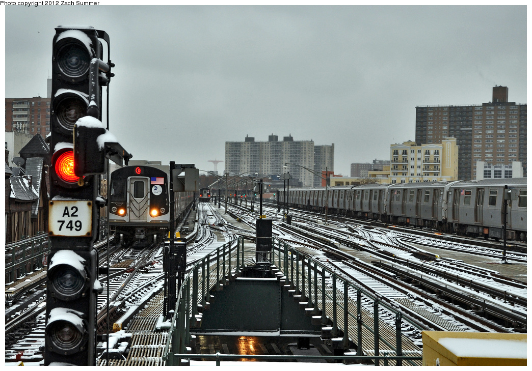 (421k, 1044x729)<br><b>Country:</b> United States<br><b>City:</b> New York<br><b>System:</b> New York City Transit<br><b>Line:</b> BMT Brighton Line<br><b>Location:</b> Brighton Beach <br><b>Route:</b> Q<br><b>Car:</b> R-160A/R-160B Series (Number Unknown)  <br><b>Photo by:</b> Zach Summer<br><b>Date:</b> 1/21/2012<br><b>Viewed (this week/total):</b> 2 / 1050