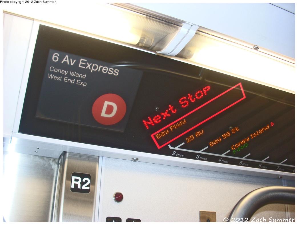 (306k, 1044x788)<br><b>Country:</b> United States<br><b>City:</b> New York<br><b>System:</b> New York City Transit<br><b>Route:</b> D (F reroute)<br><b>Car:</b> R-160B (Option 2) (Kawasaki, 2009) 9910 <br><b>Photo by:</b> Zach Summer<br><b>Date:</b> 1/13/2012<br><b>Notes:</b> This was a Brooklyn-Bound F Train rerouted via Manhattan Bridge/4 Av/West End Express to Coney Island.<br><b>Viewed (this week/total):</b> 1 / 1229