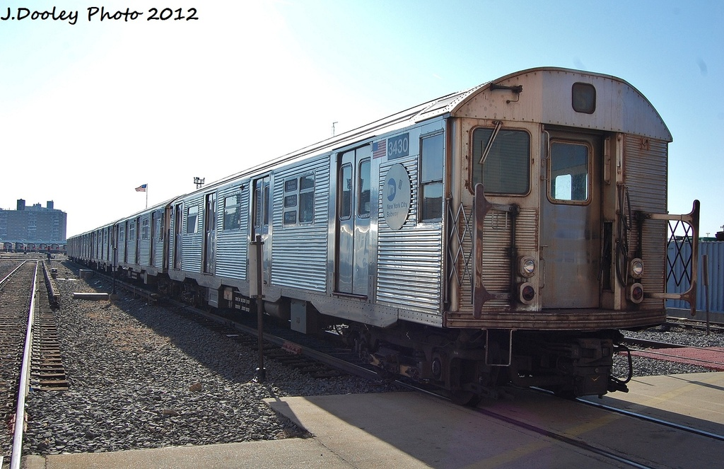 (319k, 1024x663)<br><b>Country:</b> United States<br><b>City:</b> New York<br><b>System:</b> New York City Transit<br><b>Location:</b> Coney Island Yard<br><b>Car:</b> R-32 (Budd, 1964)  3430 <br><b>Photo by:</b> John Dooley<br><b>Date:</b> 1/7/2012<br><b>Viewed (this week/total):</b> 0 / 707