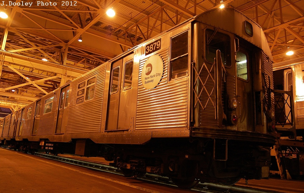 (370k, 1024x652)<br><b>Country:</b> United States<br><b>City:</b> New York<br><b>System:</b> New York City Transit<br><b>Location:</b> Coney Island Shop/Overhaul & Repair Shop<br><b>Car:</b> R-32 (Budd, 1964)  3879 <br><b>Photo by:</b> John Dooley<br><b>Date:</b> 2/21/2012<br><b>Viewed (this week/total):</b> 0 / 577