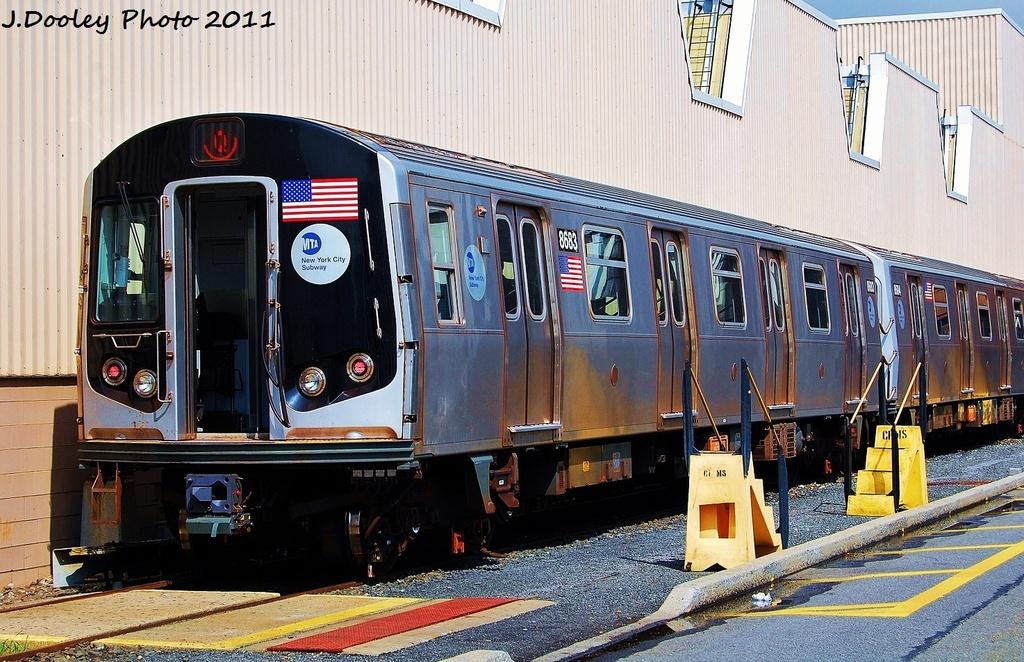 (381k, 1024x662)<br><b>Country:</b> United States<br><b>City:</b> New York<br><b>System:</b> New York City Transit<br><b>Location:</b> Coney Island Yard<br><b>Car:</b> R-160A-2 (Alstom, 2005-2008, 5 car sets)  8683 <br><b>Photo by:</b> John Dooley<br><b>Date:</b> 8/26/2011<br><b>Viewed (this week/total):</b> 1 / 655