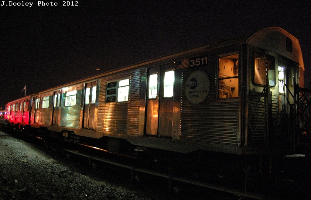 (309k, 1024x660)<br><b>Country:</b> United States<br><b>City:</b> New York<br><b>System:</b> New York City Transit<br><b>Location:</b> Coney Island Yard<br><b>Car:</b> R-32 (Budd, 1964)  3511 <br><b>Photo by:</b> John Dooley<br><b>Date:</b> 2/21/2012<br><b>Viewed (this week/total):</b> 0 / 547