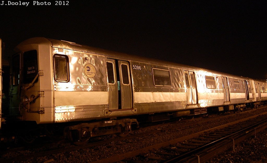(272k, 1024x627)<br><b>Country:</b> United States<br><b>City:</b> New York<br><b>System:</b> New York City Transit<br><b>Location:</b> Coney Island Yard<br><b>Car:</b> R-44 (St. Louis, 1971-73) 5286 <br><b>Photo by:</b> John Dooley<br><b>Date:</b> 2/23/2012<br><b>Viewed (this week/total):</b> 0 / 1275