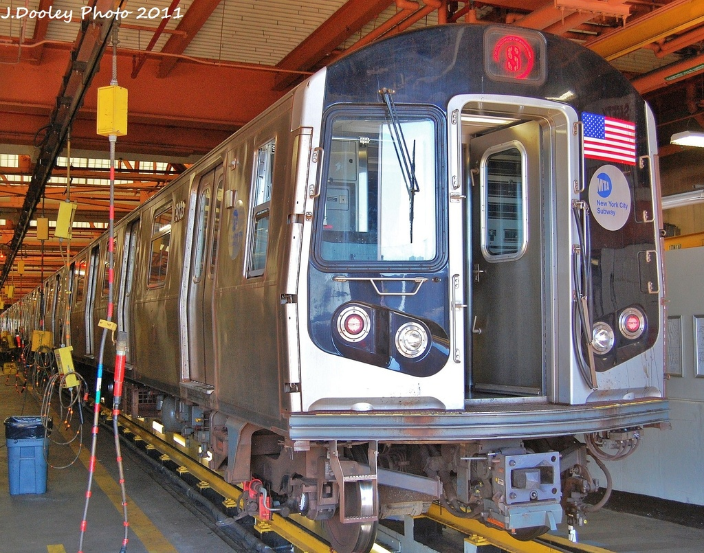 (461k, 1024x805)<br><b>Country:</b> United States<br><b>City:</b> New York<br><b>System:</b> New York City Transit<br><b>Location:</b> Coney Island Shop/Overhaul & Repair Shop<br><b>Car:</b> R-160B (Option 1) (Kawasaki, 2008-2009)  9113 <br><b>Photo by:</b> John Dooley<br><b>Date:</b> 10/9/2011<br><b>Viewed (this week/total):</b> 0 / 769