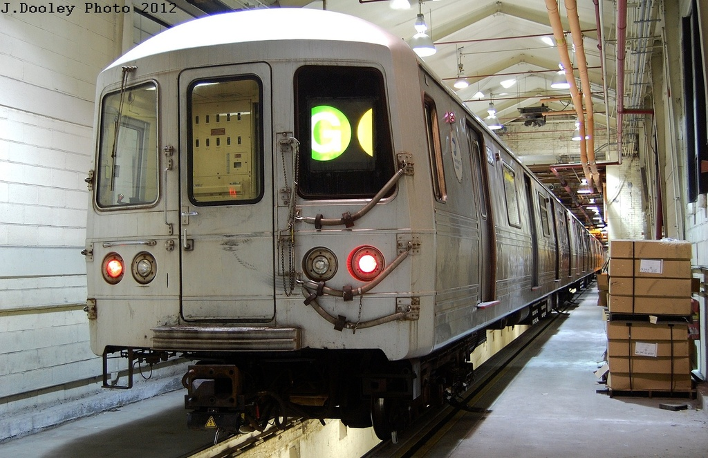 (332k, 1024x663)<br><b>Country:</b> United States<br><b>City:</b> New York<br><b>System:</b> New York City Transit<br><b>Location:</b> Coney Island Shop/Overhaul & Repair Shop<br><b>Car:</b> R-46 (Pullman-Standard, 1974-75) 5594 <br><b>Photo by:</b> John Dooley<br><b>Date:</b> 2/21/2012<br><b>Viewed (this week/total):</b> 0 / 1263
