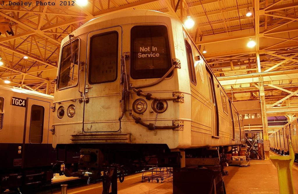 (369k, 1024x668)<br><b>Country:</b> United States<br><b>City:</b> New York<br><b>System:</b> New York City Transit<br><b>Location:</b> Coney Island Shop/Overhaul & Repair Shop<br><b>Car:</b> R-46 (Pullman-Standard, 1974-75) 6060 <br><b>Photo by:</b> John Dooley<br><b>Date:</b> 2/21/2012<br><b>Viewed (this week/total):</b> 1 / 474