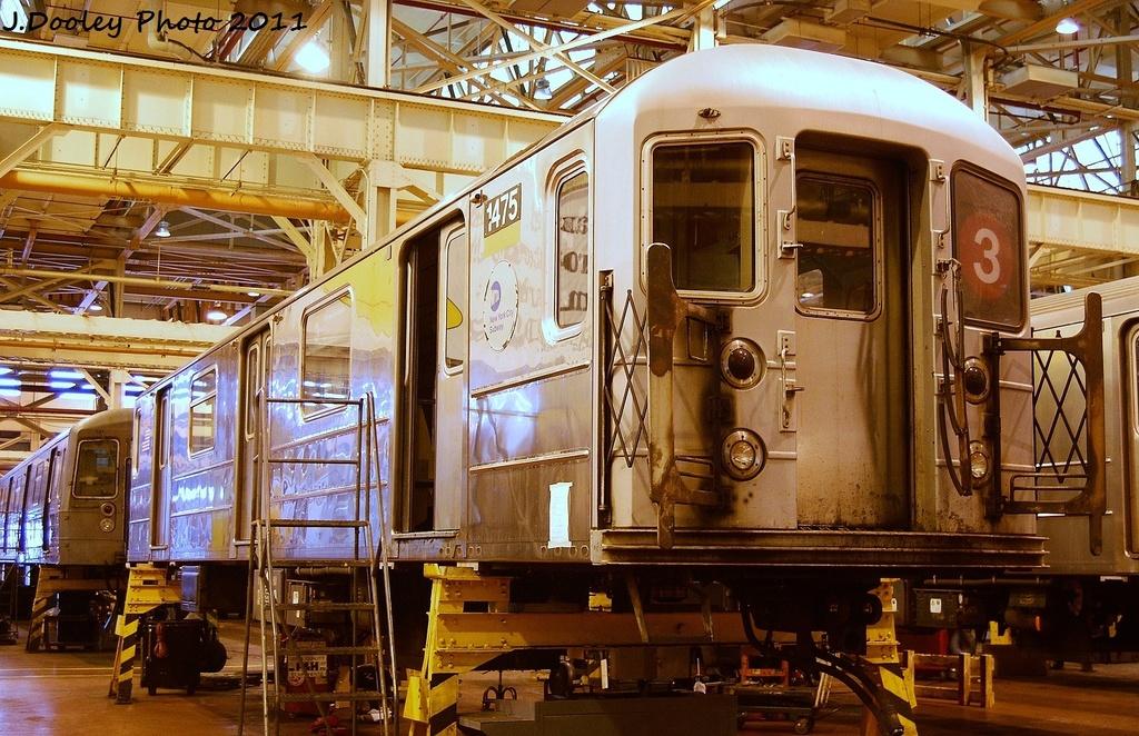 (403k, 1024x662)<br><b>Country:</b> United States<br><b>City:</b> New York<br><b>System:</b> New York City Transit<br><b>Location:</b> Coney Island Shop/Overhaul & Repair Shop<br><b>Car:</b> R-62 (Kawasaki, 1983-1985)  1475 <br><b>Photo by:</b> John Dooley<br><b>Date:</b> 8/26/2011<br><b>Viewed (this week/total):</b> 0 / 422