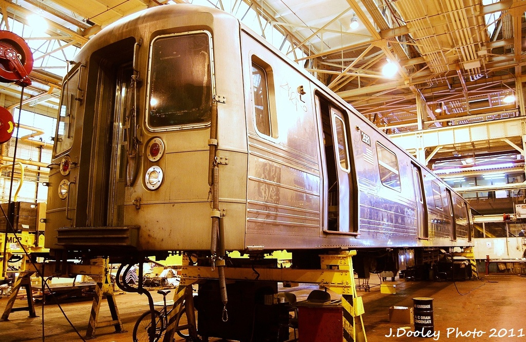 (434k, 1024x666)<br><b>Country:</b> United States<br><b>City:</b> New York<br><b>System:</b> New York City Transit<br><b>Location:</b> Coney Island Shop/Overhaul & Repair Shop<br><b>Car:</b> R-68 (Westinghouse-Amrail, 1986-1988)  2681 <br><b>Photo by:</b> John Dooley<br><b>Date:</b> 8/26/2011<br><b>Viewed (this week/total):</b> 2 / 655
