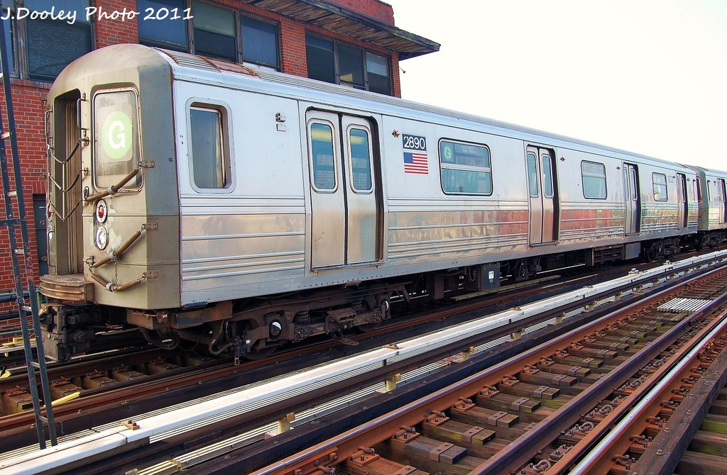 (382k, 1024x670)<br><b>Country:</b> United States<br><b>City:</b> New York<br><b>System:</b> New York City Transit<br><b>Location:</b> Coney Island Yard<br><b>Car:</b> R-68 (Westinghouse-Amrail, 1986-1988)  2890 <br><b>Photo by:</b> John Dooley<br><b>Date:</b> 8/26/2011<br><b>Viewed (this week/total):</b> 0 / 783