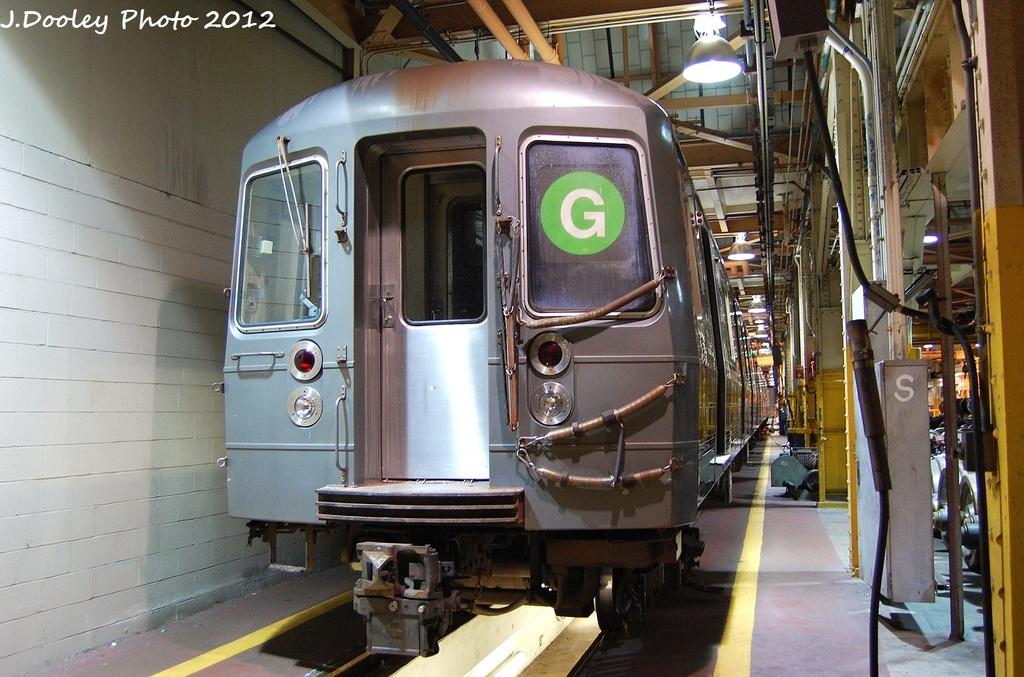 (346k, 1024x677)<br><b>Country:</b> United States<br><b>City:</b> New York<br><b>System:</b> New York City Transit<br><b>Location:</b> Coney Island Shop/Overhaul & Repair Shop<br><b>Car:</b> R-68A (Kawasaki, 1988-1989)   <br><b>Photo by:</b> John Dooley<br><b>Date:</b> 1/19/2012<br><b>Viewed (this week/total):</b> 0 / 978