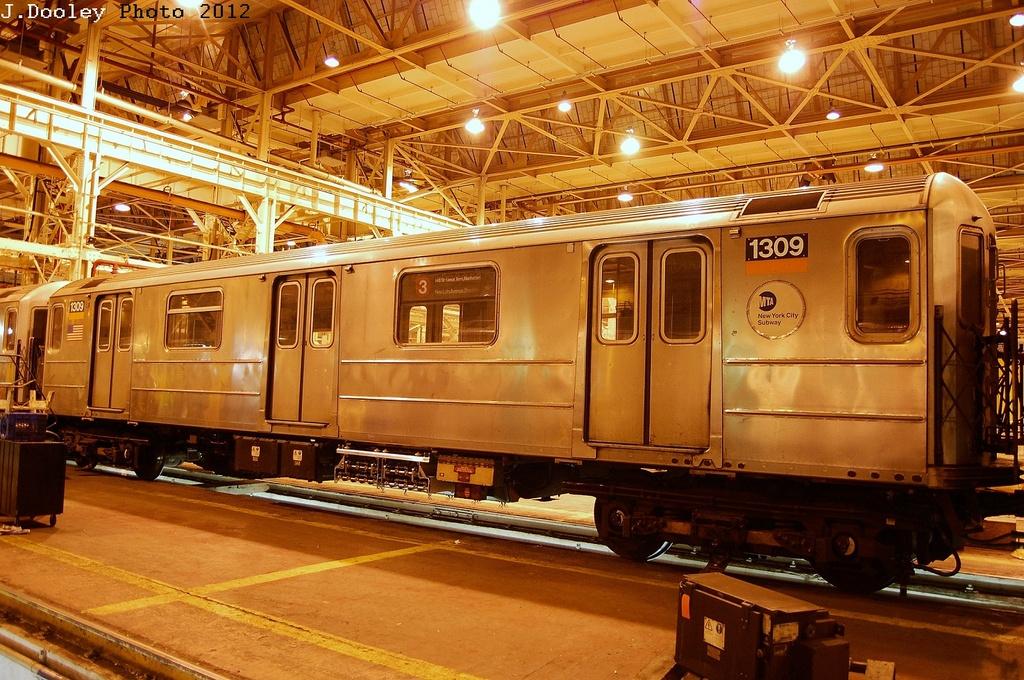 (401k, 1024x680)<br><b>Country:</b> United States<br><b>City:</b> New York<br><b>System:</b> New York City Transit<br><b>Location:</b> Coney Island Shop/Overhaul & Repair Shop<br><b>Car:</b> R-62 (Kawasaki, 1983-1985)  1309 <br><b>Photo by:</b> John Dooley<br><b>Date:</b> 2/27/2012<br><b>Viewed (this week/total):</b> 2 / 473