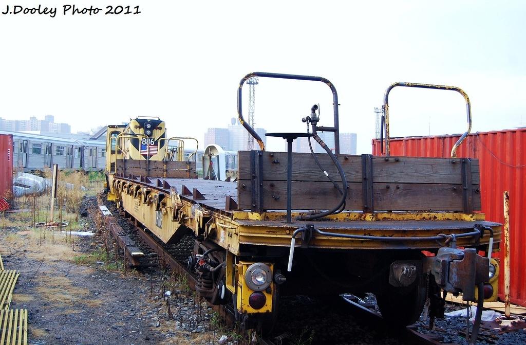 (312k, 1024x671)<br><b>Country:</b> United States<br><b>City:</b> New York<br><b>System:</b> New York City Transit<br><b>Location:</b> Coney Island Yard<br><b>Car:</b> Flat Car 186 <br><b>Photo by:</b> John Dooley<br><b>Date:</b> 8/26/2011<br><b>Viewed (this week/total):</b> 2 / 443