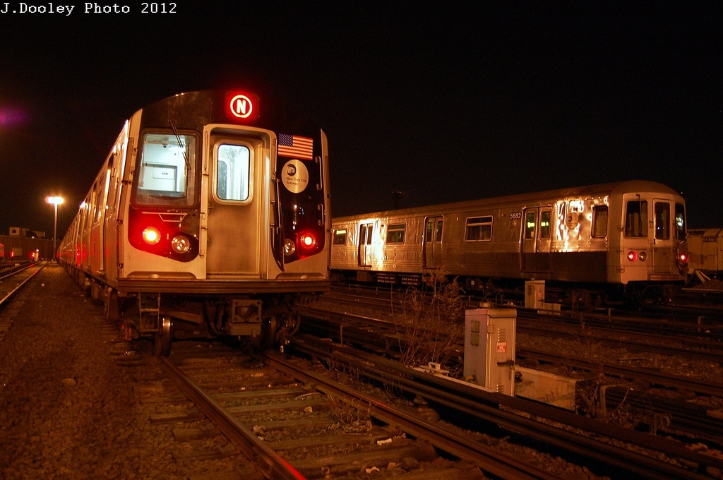 (293k, 1024x680)<br><b>Country:</b> United States<br><b>City:</b> New York<br><b>System:</b> New York City Transit<br><b>Location:</b> Coney Island Yard<br><b>Car:</b> R-46 (Pullman-Standard, 1974-75) 5682 <br><b>Photo by:</b> John Dooley<br><b>Date:</b> 2/27/2012<br><b>Viewed (this week/total):</b> 0 / 694