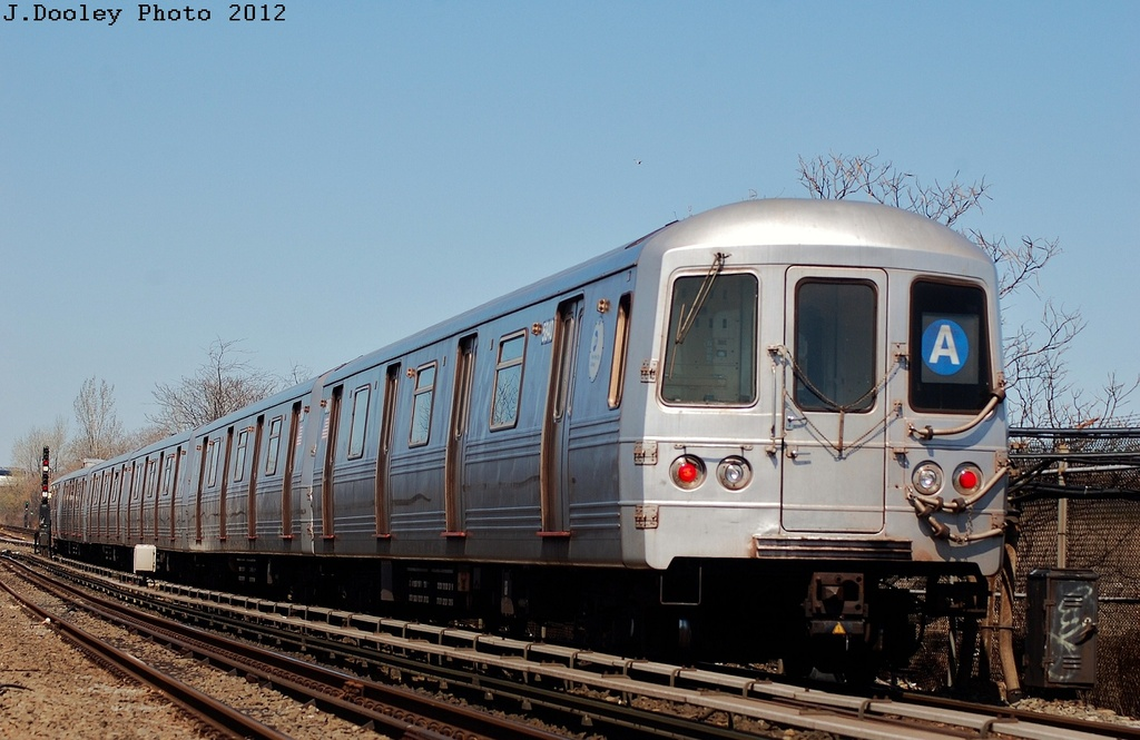 (288k, 1024x665)<br><b>Country:</b> United States<br><b>City:</b> New York<br><b>System:</b> New York City Transit<br><b>Line:</b> IND Rockaway<br><b>Location:</b> Near Broad Channel<br><b>Route:</b> A<br><b>Car:</b> R-46 (Pullman-Standard, 1974-75) 5840 <br><b>Photo by:</b> John Dooley<br><b>Date:</b> 3/27/2012<br><b>Viewed (this week/total):</b> 0 / 542