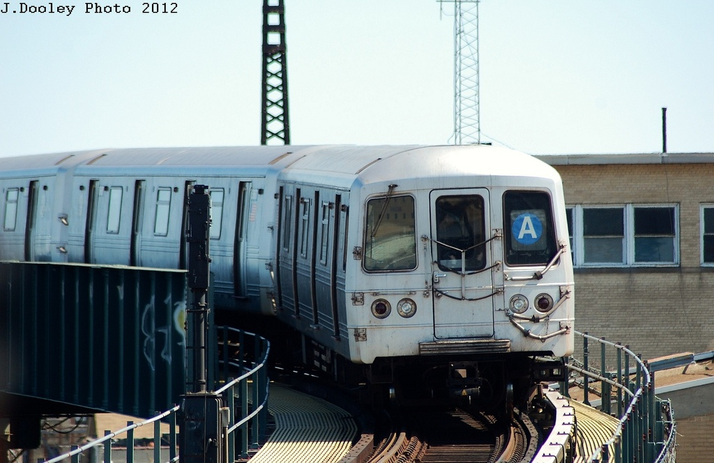 (272k, 1024x664)<br><b>Country:</b> United States<br><b>City:</b> New York<br><b>System:</b> New York City Transit<br><b>Line:</b> IND Rockaway<br><b>Location:</b> Liberty Junction<br><b>Route:</b> A<br><b>Car:</b> R-46 (Pullman-Standard, 1974-75) 5968 <br><b>Photo by:</b> John Dooley<br><b>Date:</b> 3/27/2012<br><b>Viewed (this week/total):</b> 0 / 540