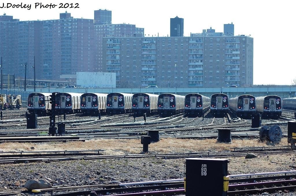 (420k, 1024x680)<br><b>Country:</b> United States<br><b>City:</b> New York<br><b>System:</b> New York City Transit<br><b>Location:</b> Coney Island Yard<br><b>Car:</b> R-160A/R-160B Series (Number Unknown)  <br><b>Photo by:</b> John Dooley<br><b>Date:</b> 1/7/2012<br><b>Viewed (this week/total):</b> 0 / 821