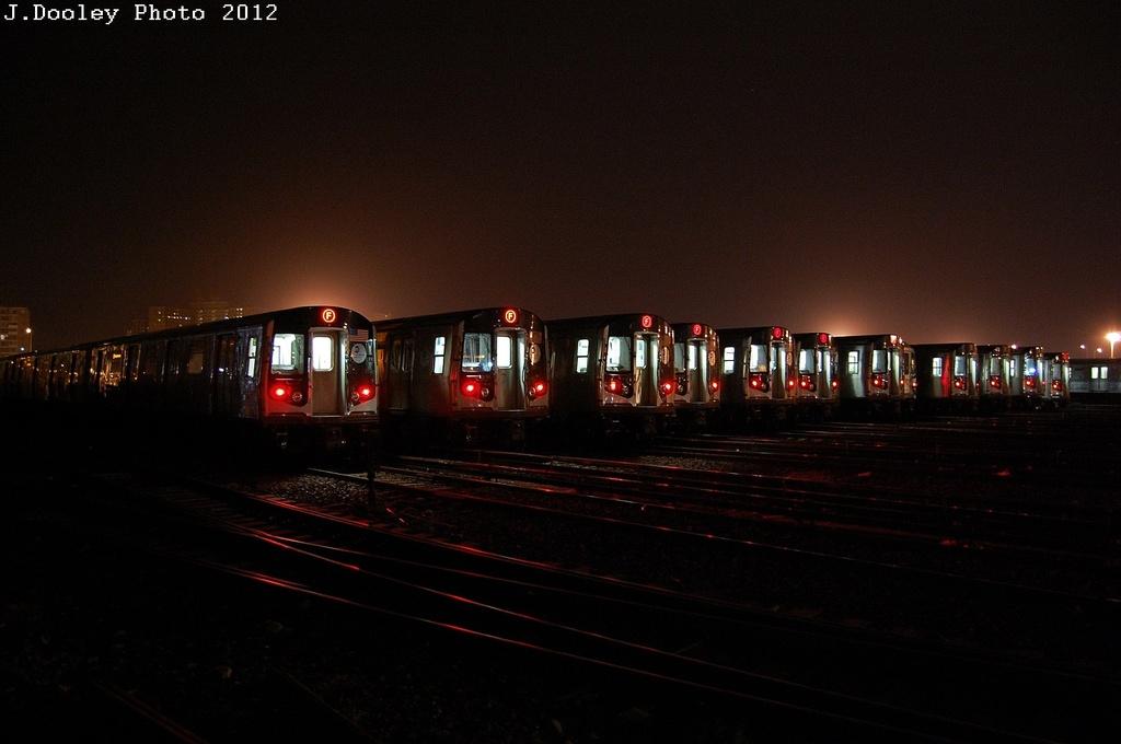 (228k, 1024x680)<br><b>Country:</b> United States<br><b>City:</b> New York<br><b>System:</b> New York City Transit<br><b>Location:</b> Coney Island Yard<br><b>Car:</b> R-160A/R-160B Series (Number Unknown)  <br><b>Photo by:</b> John Dooley<br><b>Date:</b> 2/23/2012<br><b>Viewed (this week/total):</b> 0 / 1451