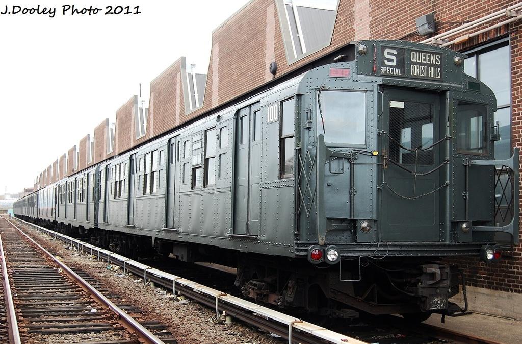 (369k, 1024x674)<br><b>Country:</b> United States<br><b>City:</b> New York<br><b>System:</b> New York City Transit<br><b>Location:</b> 207th Street Yard<br><b>Car:</b> R-1 (American Car & Foundry, 1930-1931) 100 <br><b>Photo by:</b> John Dooley<br><b>Date:</b> 11/29/2011<br><b>Viewed (this week/total):</b> 0 / 865