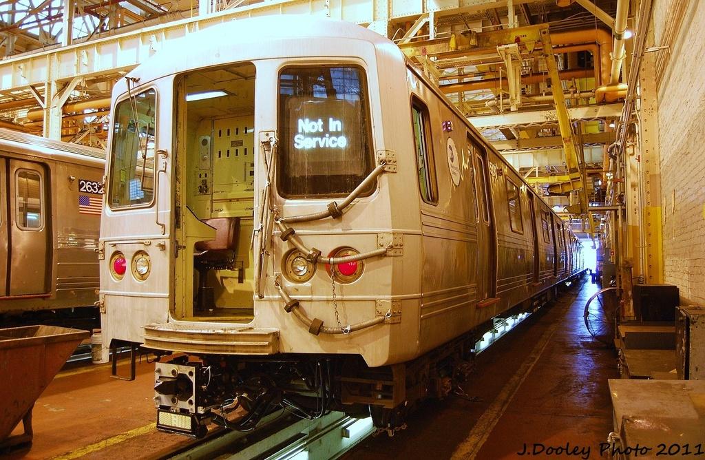 (408k, 1024x668)<br><b>Country:</b> United States<br><b>City:</b> New York<br><b>System:</b> New York City Transit<br><b>Location:</b> Coney Island Shop/Overhaul & Repair Shop<br><b>Car:</b> R-46 (Pullman-Standard, 1974-75) 5790 <br><b>Photo by:</b> John Dooley<br><b>Date:</b> 8/26/2011<br><b>Viewed (this week/total):</b> 2 / 567