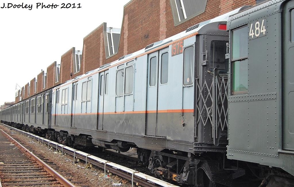 (345k, 1024x652)<br><b>Country:</b> United States<br><b>City:</b> New York<br><b>System:</b> New York City Transit<br><b>Location:</b> 207th Street Yard<br><b>Car:</b> R-7A (Pullman, 1938)  1575 <br><b>Photo by:</b> John Dooley<br><b>Date:</b> 11/29/2011<br><b>Viewed (this week/total):</b> 0 / 578