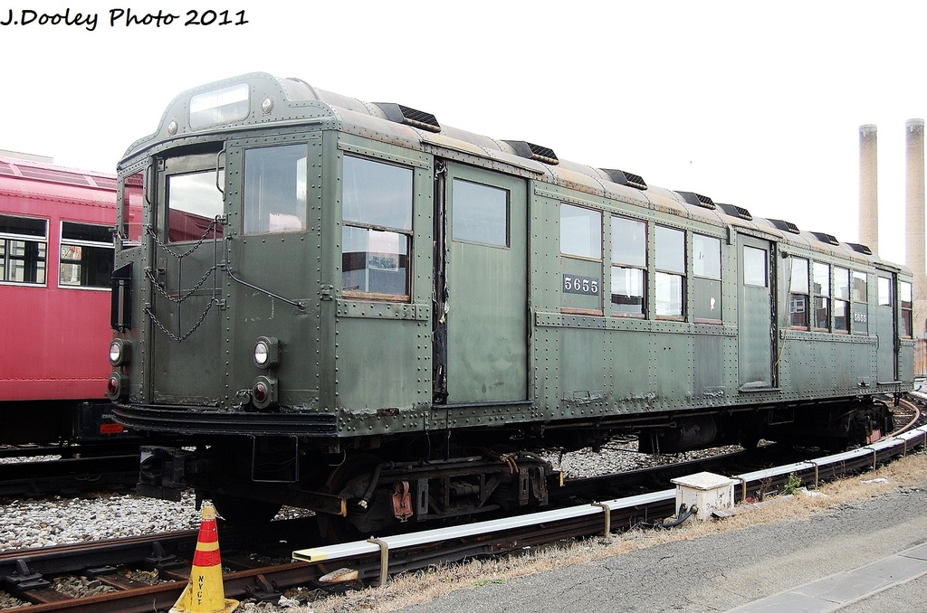 (333k, 1024x678)<br><b>Country:</b> United States<br><b>City:</b> New York<br><b>System:</b> New York City Transit<br><b>Location:</b> Coney Island Yard-Museum Yard<br><b>Car:</b> Low-V Worlds Fair 5655 <br><b>Photo by:</b> John Dooley<br><b>Date:</b> 11/29/2011<br><b>Viewed (this week/total):</b> 0 / 1263