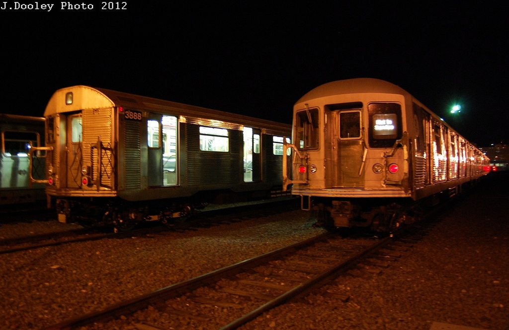 (272k, 1024x665)<br><b>Country:</b> United States<br><b>City:</b> New York<br><b>System:</b> New York City Transit<br><b>Location:</b> Coney Island Yard<br><b>Car:</b> R-32 (Budd, 1964)  3888 <br><b>Photo by:</b> John Dooley<br><b>Date:</b> 2/21/2012<br><b>Viewed (this week/total):</b> 0 / 930